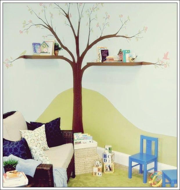 15 Verspielte Und Schicke Baum Wandtattoos Deko Trend Baum Kinderzimmer Kinderzimmer Streichen Kinder Zimmer