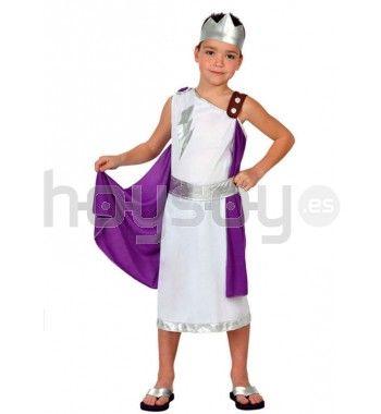 #Disfraz de #Zeus en color blanco con capa azul, siéntete como el rey de los dioses, dios del cielo y del trueno, ideal para carnaval, fiestas escolares y juegos infantiles #Disfraces #Carnaval