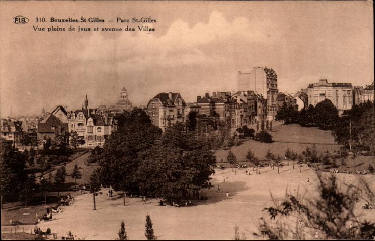 Bruxelles-St-Gilles - Parc St-Gilles Vue plaine de jeux et avenue des Villas