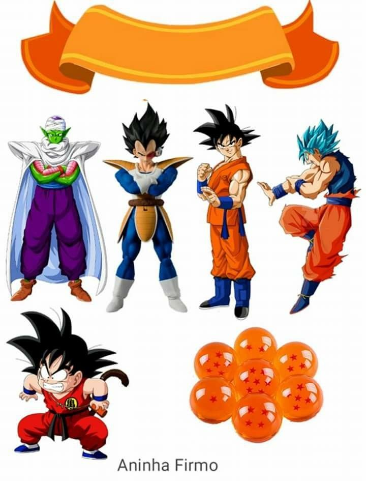 picture regarding Dragon Ball Z Printable identify Dragon Ball Z: Cost-free Printable Cake and Cupcake Toppers. - Oh