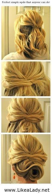 Topknot hair mid-length