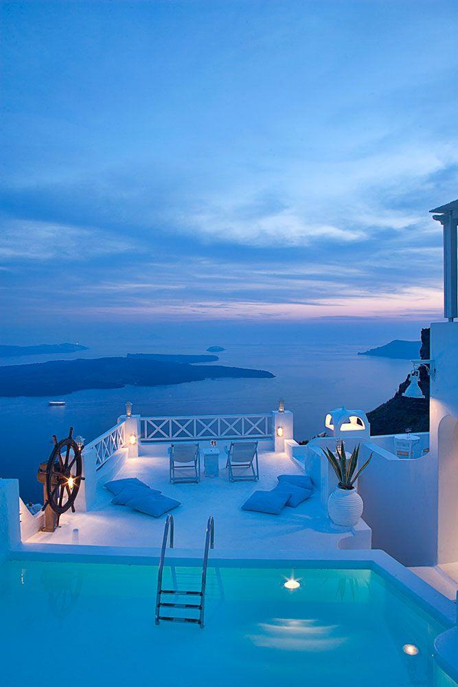 Romantic boutique hotel On the Rocks in Santorini Greece