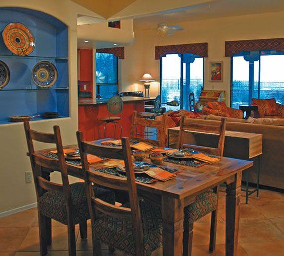 Delightful Southwestern Interior Paint Palette | Terracotta In Southwestern Home  Interior Design | Bhouse
