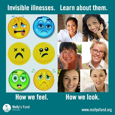 #Invisible Ilness, learn about them http://www.mollysfund.org