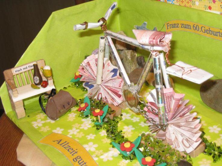 die 25 besten ideen zu geldgeschenk fahrrad auf pinterest. Black Bedroom Furniture Sets. Home Design Ideas