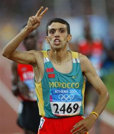 The fastest mile ever run is 3:43.13 by Hicham El Guerrouj of Morocco in 1999.