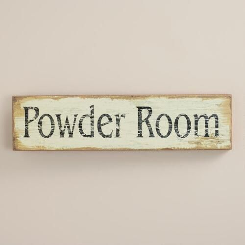 One of my favorite discoveries at WorldMarket.com: Powder Room Wall Art