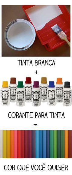 Casa de Colorir: Como misturar cores para fazer o seu próprio tom de tinta