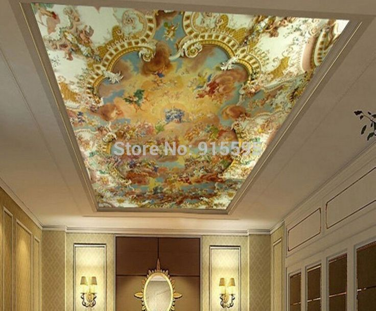 3d wallpaper mural clouds sky european greek angel for Cloud wallpaper mural