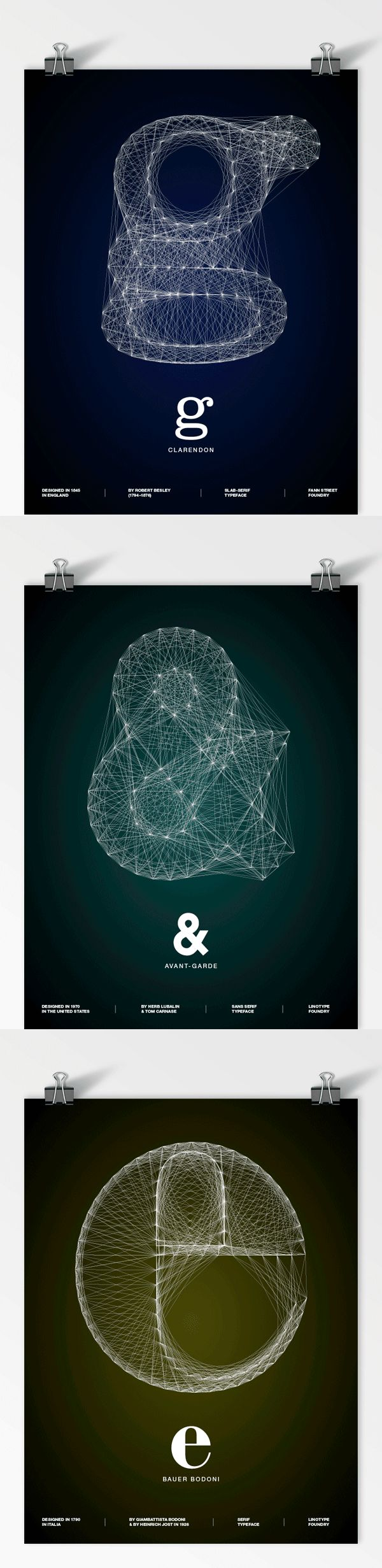 """Galaxy Type Posters""  by  Romain Roger #Graphic Design # Print Design #Typography"