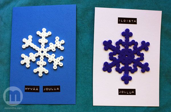 Hama beads Christmas cards by minaitte.net