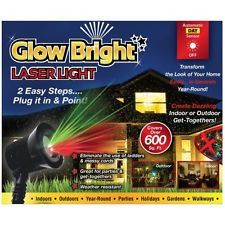 Glow Bright Christmas Laser Light Show DELUXE WITH REMOTE, Tripod, and Stake