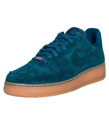 NIKE Air Force One low suede sneaker Women's low top shoe Perforated suede upper Padded tongue with ... True to size, Womens sizes. Suede. Medium Green 749263-301.
