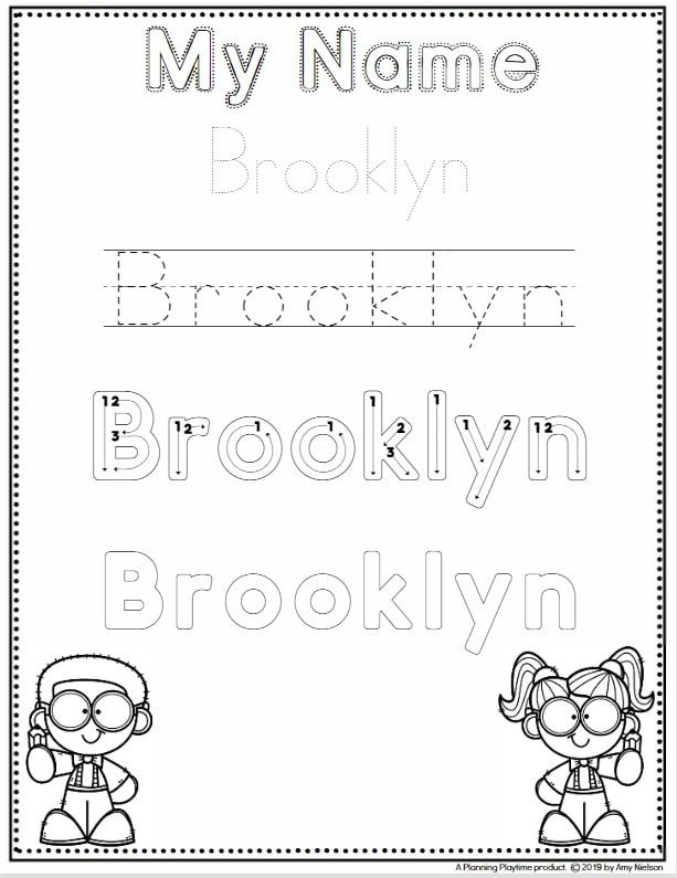 Name Tracing Worksheets - Planning Playtime | Name tracing ...