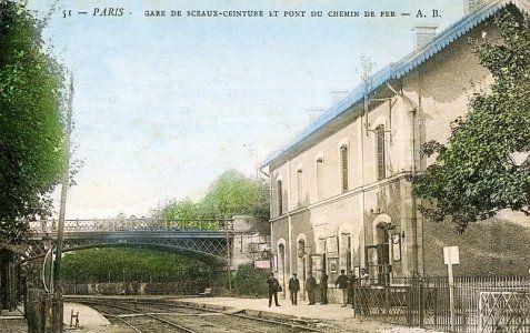Sure la ligne de Sceaux  rer C: la gare de Sceaux Ceinture dans le 14e arrondissement
