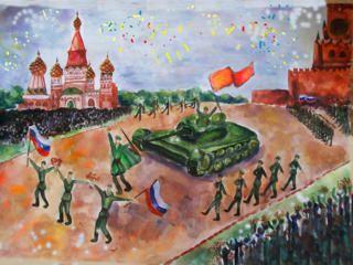 Детские рисунки 9 мая - День Победы фото 1