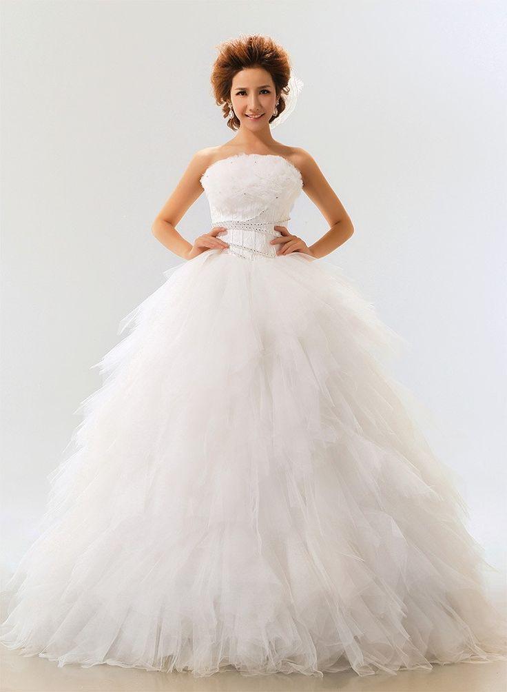 Simple Bride shoulder strap wedding dress one shoulder paillette strap lacing lml