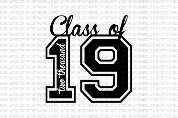 Description Class of 2019 SVG Printable Clipart Graduation