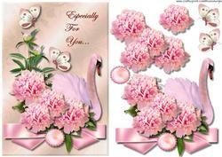 Romantische Swan & Roze Pioenen