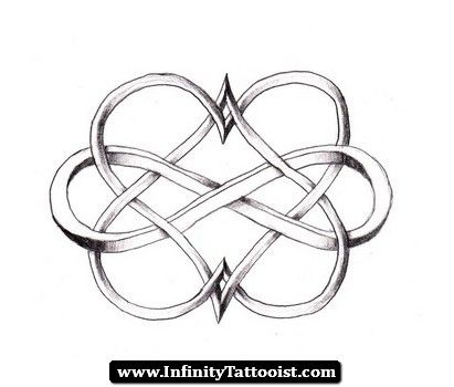 Double Infinity Heart Tattoos Would Get The Hearts In Red The