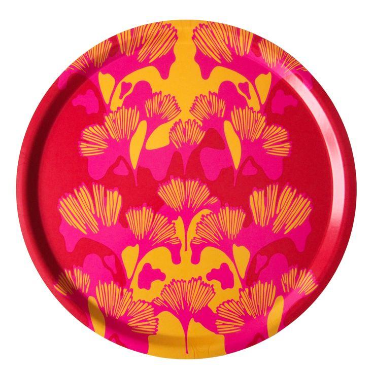 Bricka GINKO röd/rosa/gul 38cm