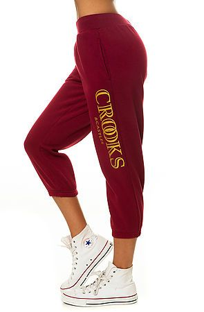 The Ballin' Mane Sweatpant in Burgundy by Crooks and Castles #sweatpants #cozy #winter #2014 #fashion SAVE 20% OFF YOUR ORDER at www.KARMALOOP.com using repcode: DUTY