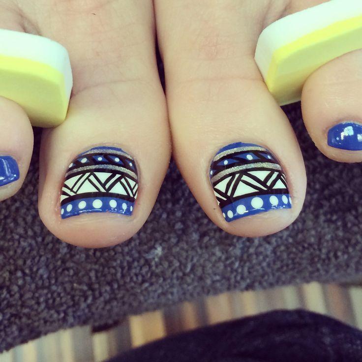 Tribal toe-nails