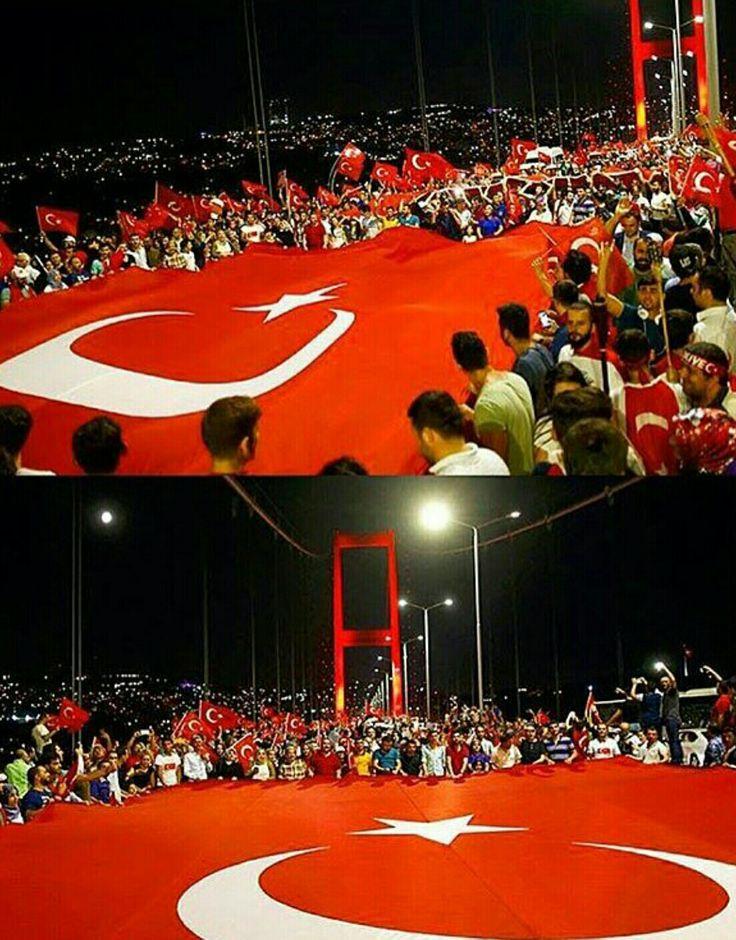 Turkish Flag, Vatan, Istanbul, Türkiye, #Darbeyehayir
