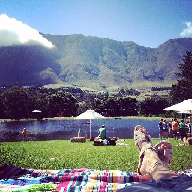 Beautiful day in #Hermanus #southafrica for a little #musicfestival #twominutepuzzle #band was awesome. http://instagram.com/kkcawley 15 March 2014