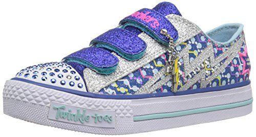 Skechers Kids Shuffles - Star Shock Sneaker (Little Kid), Royal/Silver, 12 M US Little Kid - http://all-shoes-online.com/skechers-kids/skechers-kids-twinkle-toes-prolifics-light-up-kid-90