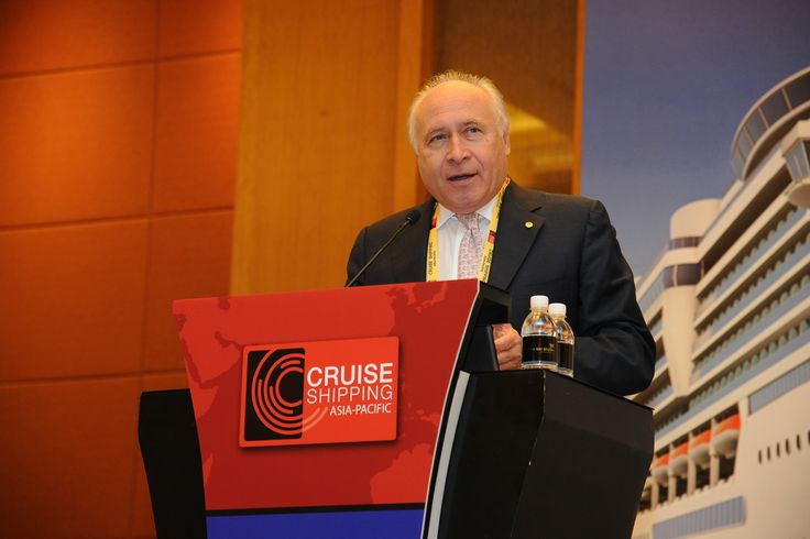 Keynote speaker at State of the Cruise Industry in Asia, Pier Luigi Foschi, Chairman and CEO, Carnival Asia