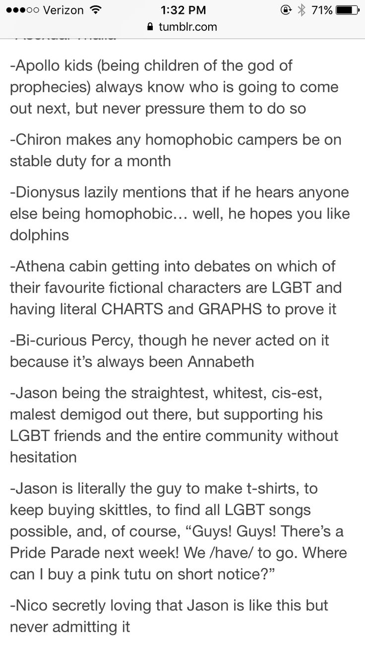 I'd be Jason, like really, I'm the support system to all my LGBT friends