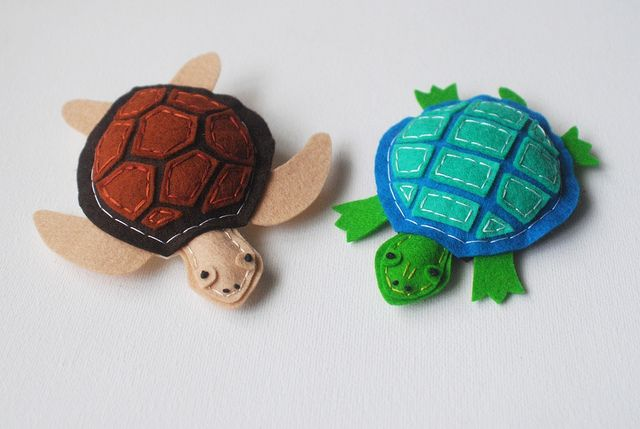 Wool Felt Turtles! by whatnomints, via Flickr