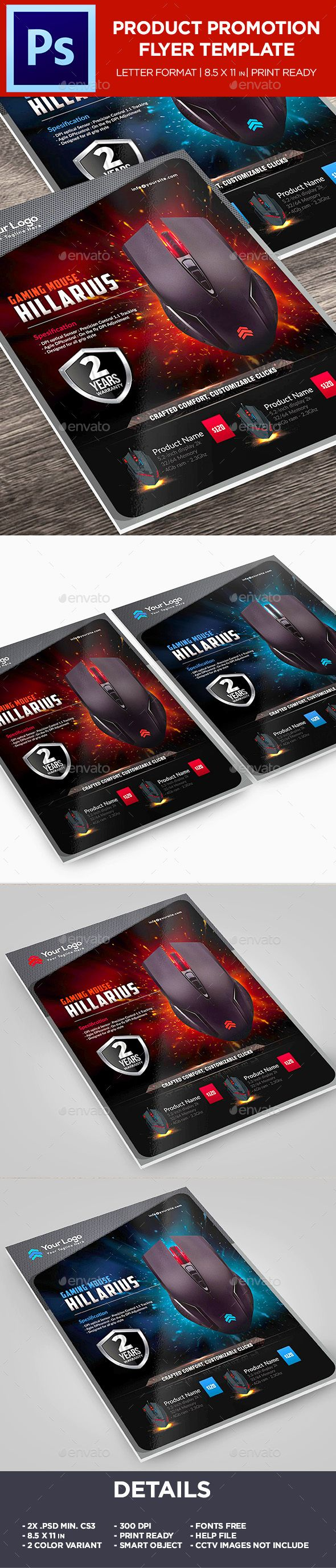Gaming Mouse Product Flyer - Corporate Promotion Flyer