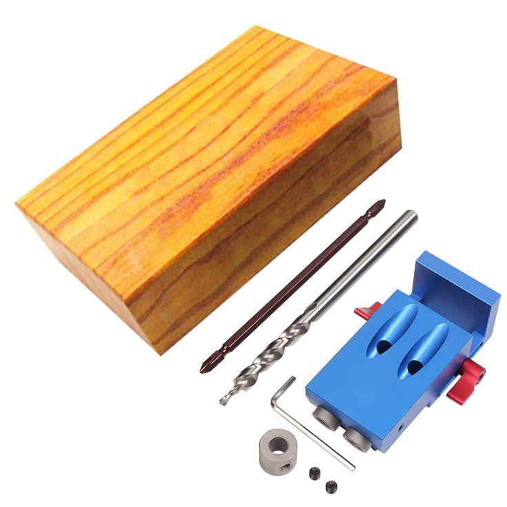 Mini Bolsillo Estilo Kreg Jig Kit Sistema Para Trabajar la Madera y carpintería + Step Drill Bit & Accesorios Conjunto de Herramientas de Trabajo De Madera Con caja