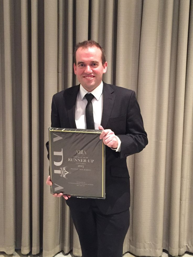 Benny Martin - Australian Bridal Industry Association (ABIA) Victorian Wedding Ceremony Pianist award