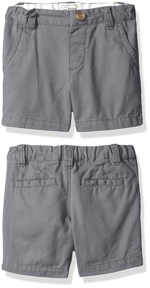 The Children's Place Baby Boys' Chino Shorts, Storm 45119, 18-24 Months