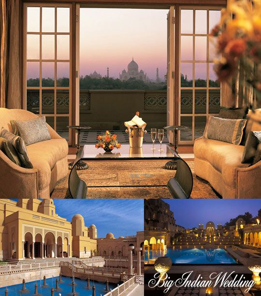 The Oberoi Amarvilas, Agra. The Oberoi Amarvilas reckons all to-be brides and grooms with its enticing charm and grandeur for a fairytale wedding, perfectly set against the epitome of romance, the Taj Mahal itself. So get married the way you have always wanted to... the royal way!