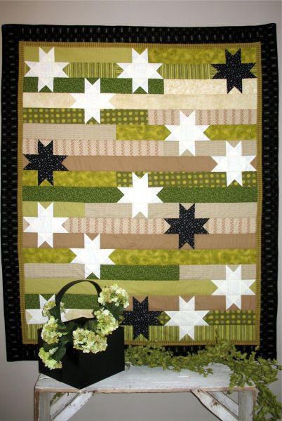 Great quilt from Joined at the Hip-I see this in red, white & blue.