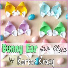 Gather your crafting supplies and join us for some fun on the blog! Bunny Ear Hair Clips for Easter