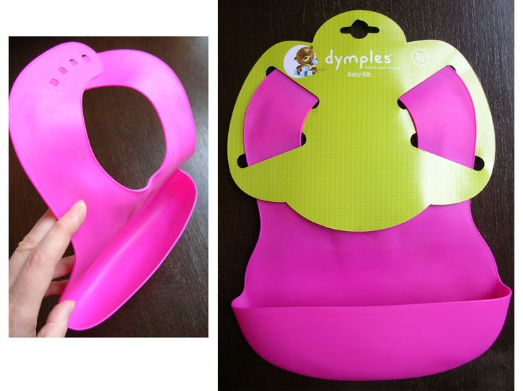 3 X Dimples Baby bib To protect babies clothes while learning to eat.  Is made of soft rubber and has a catcher bit at bottom. Has adjustable neck size.  If you get three, it makes life easier as you won't have to keep washing them in-between meals.