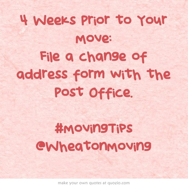 The 8 Best Images About Moving To New Apartment On Pinterest   Official  Change Of Address  Official Change Of Address Form