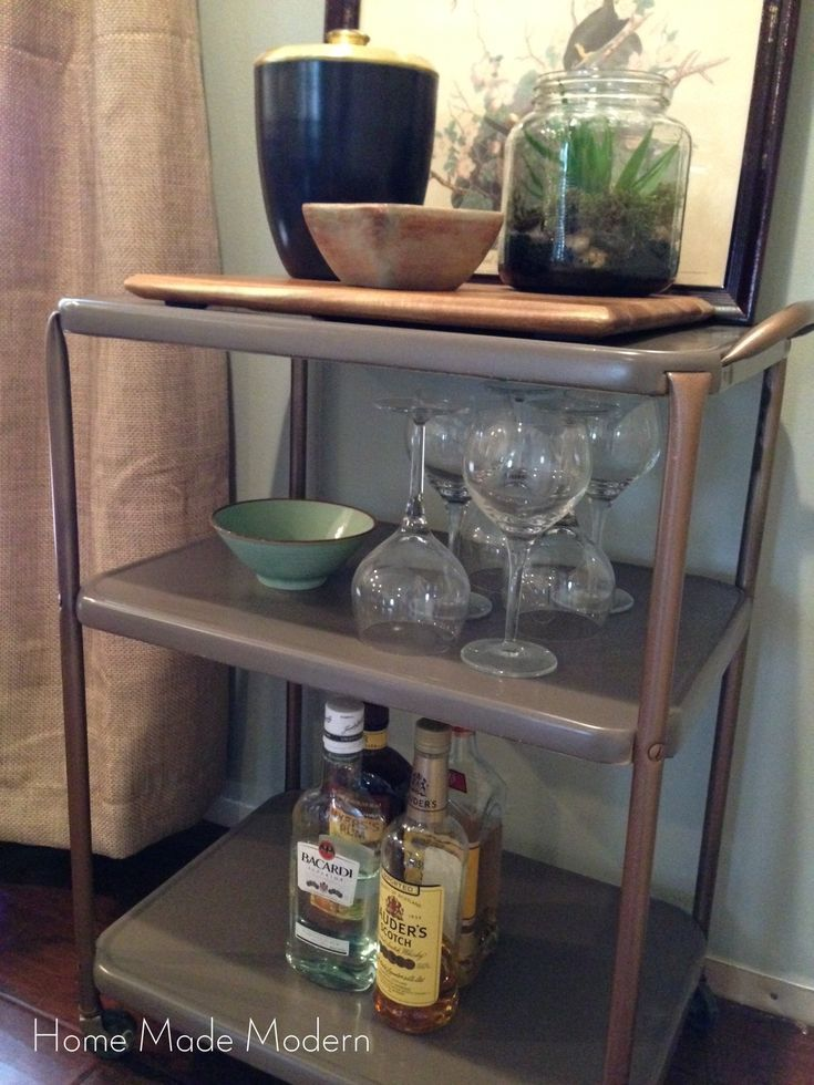 Get Mad Men Style with an Upcycled Utility Cart