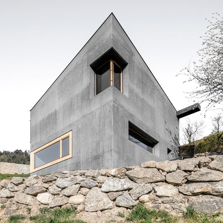Nice A Three Storey House Made Entirely Of Concrete Has Been Set Into The Steep  Slope Of The Eisack Valley In South Tyrol By Local Architect Andreas Gruber