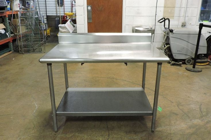 """Commercial Stainless Steel Work Table with Undershelf - 48"""" x 30"""""""