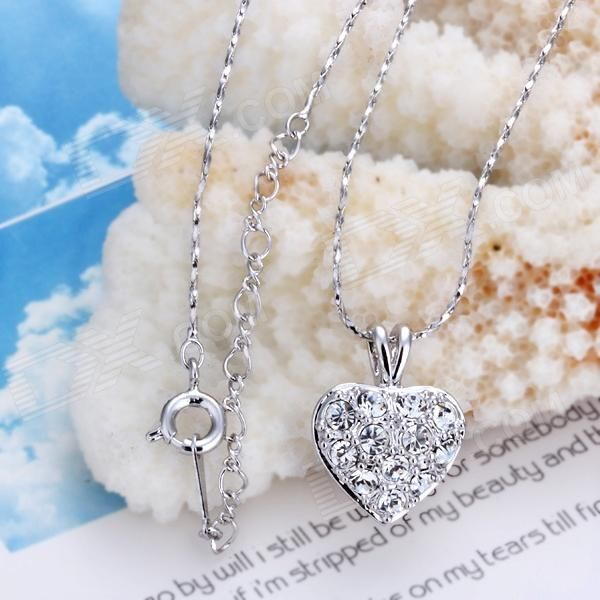Color: Silver; Model: N004; Quantity: 1 Set; Shade Of Color: Gold; Gender: Women; Suitable for: Adults; Chain Material: Tin alloy; Pendant Material: Tin alloy; Chain Length: 45 cm; Chain Width: 0.2 cm; Packing List: 1 x Necklace; http://j.mp/1ljAWSM