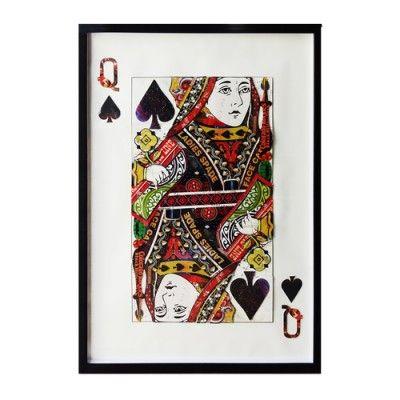 Obraz przestrzenny Queen Spades 104-9061