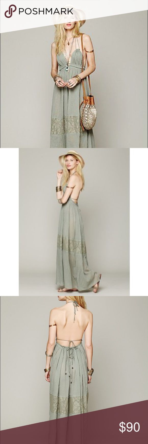 Endless Summer Triangle Top Maxi, Free People Never worn. Free People Dresses Maxi