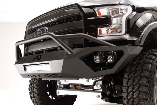 Fab Fours - Fab Fours FF15-D3252-1 Vengeance Front Bumper with Pre-Runner Ford F150 2015-2017
