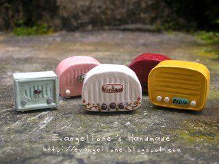 miniature vintage radios :)